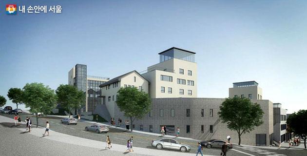 일제강점기 때 건물을 리모델링한 `도시건축센터`