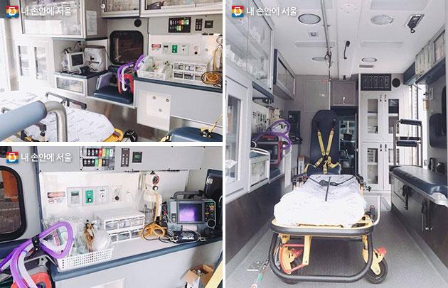 중증환자 이송서비스를 위한 대형 특수구급차