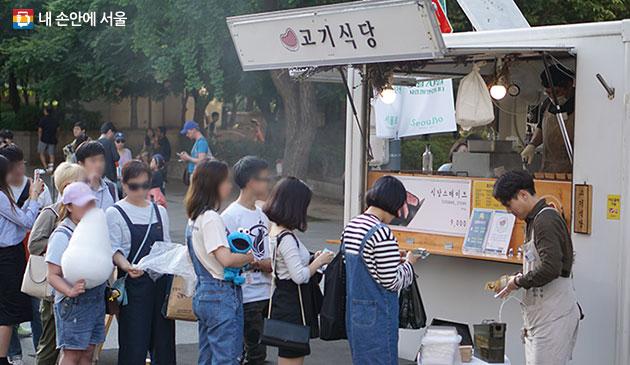 서울밤도깨비야시장 청계광장 푸드트럭
