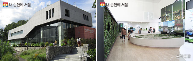 북서울 꿈의 숲 동문 입구에 있는 방문자센터에는 서울의 모습을 한 눈에 볼 수 있는 갤러리와 도시숲에 관한 다양한 정보를 한 눈에 볼 수 있다 ⓒ박은영