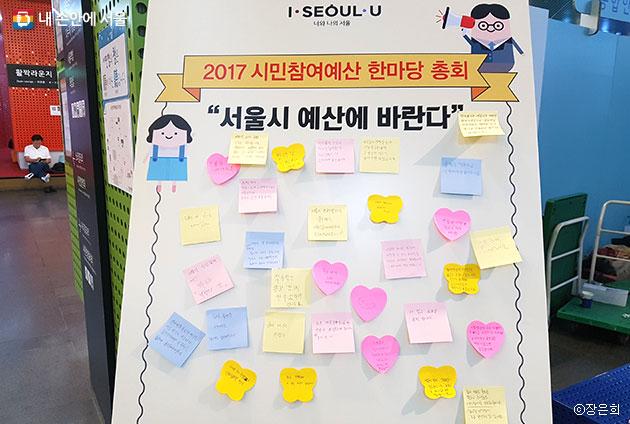 서울시민들이 바라는 서울시 예산 활용 ⓒ장은희