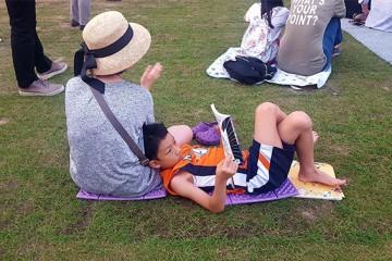 서울광장에서 함께 책 읽기 '서울 북페스티벌'