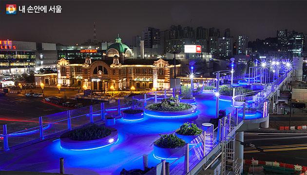서울로 7017 만리재로 방향 야경