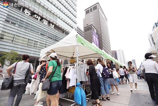 6.24~25 청계광장에서 진행된 서울시 지하도상가 프리마켓