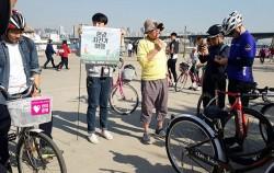 김훈 작가와 함께한 `한강 자전거 여행`