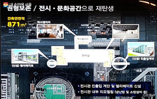 `SeMA벙커`로 리모델링 된 여의도 비밀지하벙커의 내부 시설 배치도ⓒ최용수