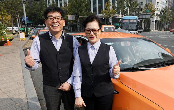 서울택시기사 13일부터 '청색체크셔츠 유니폼' 입는다