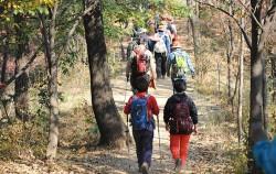 제 7 코스 봉산·앵봉산 구간을 걷는 시민들