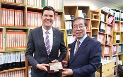 뉴질랜드 웰링턴시장 저스틴 레스터가 서울시청을 방문했다