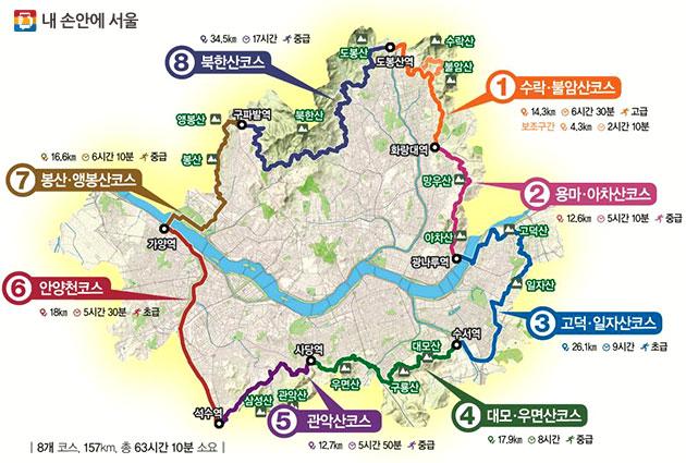 서울둘레길 전체 코스 정보