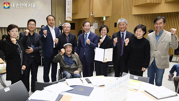 서울시 먹거리시민위원회는 10개 분과위원회로 구성돼 있다