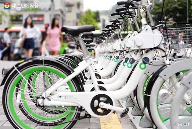 서울 공공자전거 `따릉이`ⓒnews1