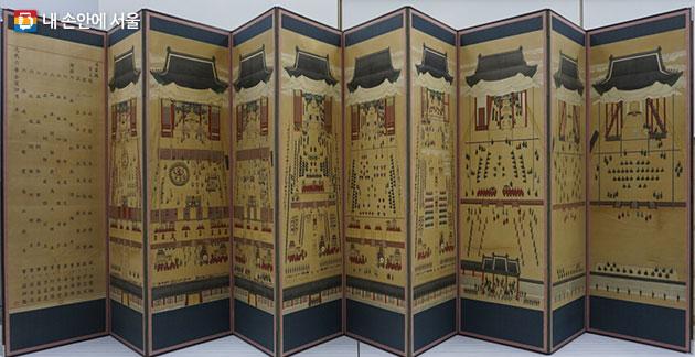 서울역사박물관이 최근 운현궁으로부터 기증받은 임인진연도병풍(壬寅進宴圖屛風)