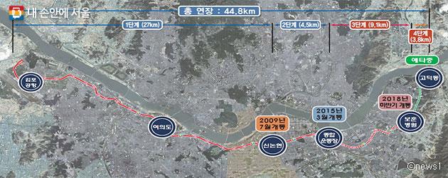 2018년 하반기에 개통되는 지하철 9호선 3단계 구간