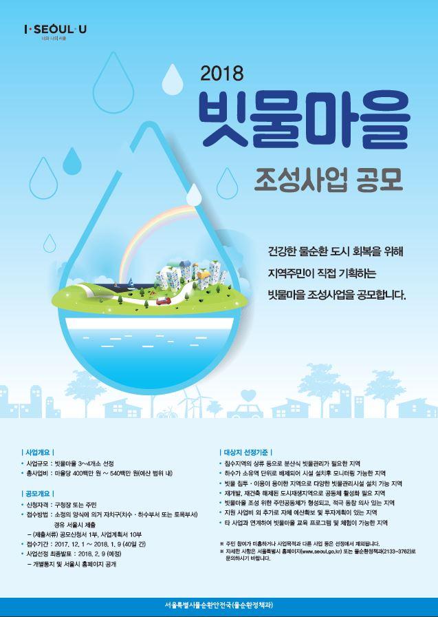 2018 빗물마을 조성사업 공모