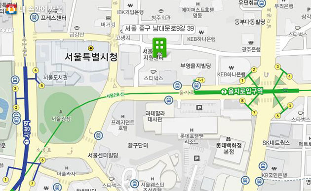 서울NPO지원센터 위치도
