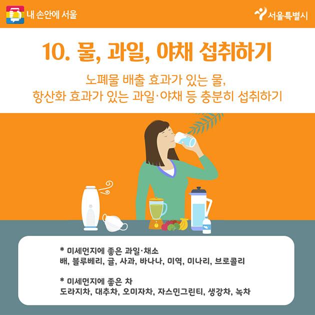 10. 물, 과일, 야채 섭취하기