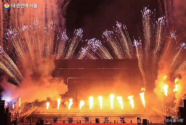 잠실종합운동장에서 펼쳐질 예술불꽃화랑의 파이어 아트 공연 ⓒ서울사랑