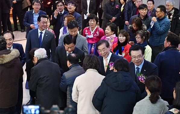 1월4일 가진 용산구 신년인사회 모습