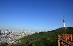비 온뒤 맑은 서울하늘 모습