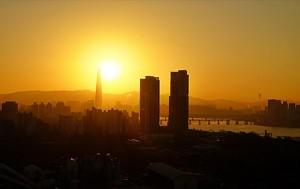 2018 새해 아침 힘차게 떠오르는 태양