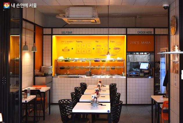진스마라 식당 내부 모습