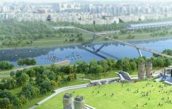 삼표레미콘 공장부지는 중랑천 둔치로 이어지는 '수변공원'으로 변신할 예정이다