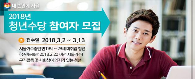 2018년 서울시 청년수당 참여자 모집 안내