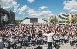 광화문광장에서 진행된 '1000인의 오케스트라'