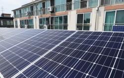 아파트 옥상에 설치된 '태양광 발전판'