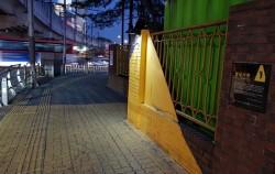 구남초등학교 앞에 설치된 옐로카펫