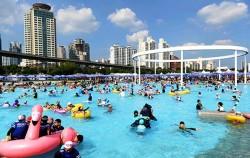 뚝섬 한강 야외수영장 전경
