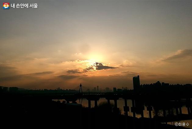 광진교에서 바라본 풍경