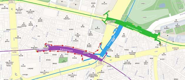 동대문역사문화공원역 소프트환승 도입 시 4-5호선 환승 방법(☞ 이미지 클릭 크게보기)