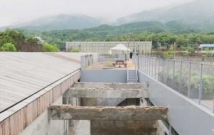 대전차 방호시설 당시의 콘크리트 구조물