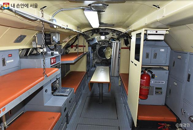 잠수정 내부 승조원 침실