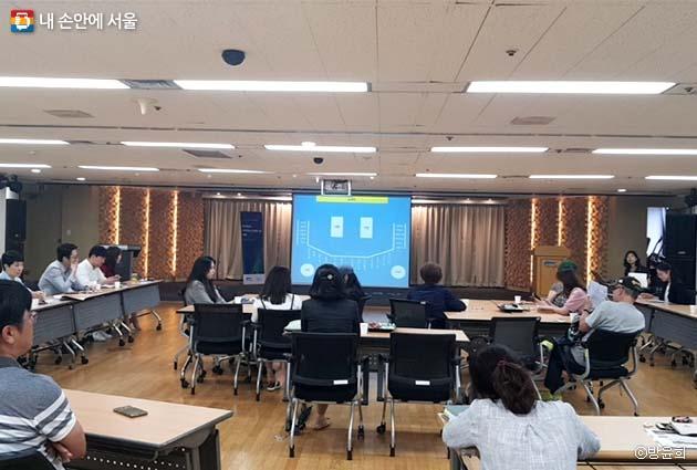 서울시설공단 25개 부서 직원들과 시민모니터들이 시민 위더스(With us)에 참석하였다