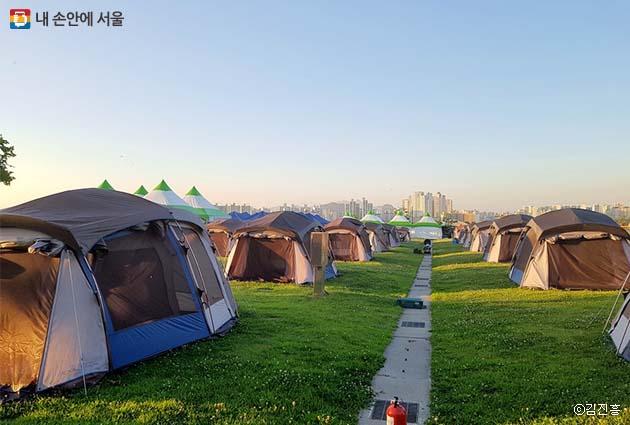 여의도 한강공원 캠핑장