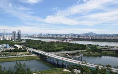 응봉산에서 바라본 서울 풍경