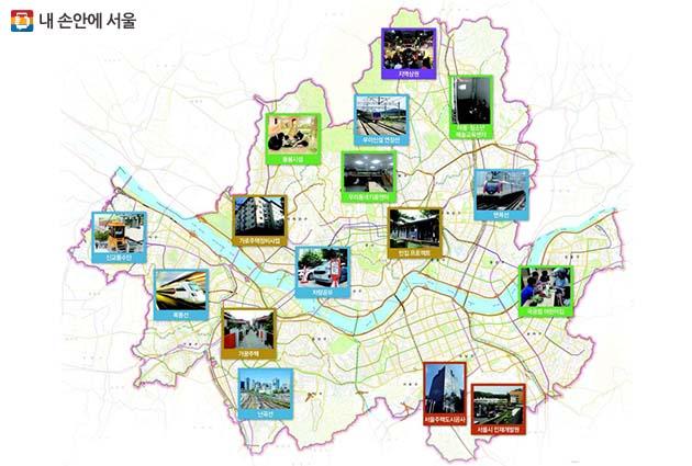 19일 발표한 강남북 균형발전 정책안(☞ 이미지 클릭 크게보기)