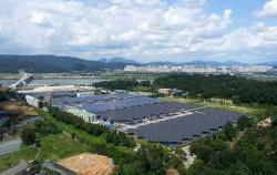 암사정수장 태양광발전시설