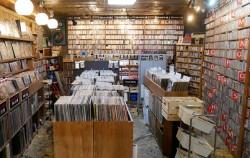 도프 레코드는 음반 정보를 부담 없이 확인하고 고를 수 있도록 자유로운 공간으로 구성했다.