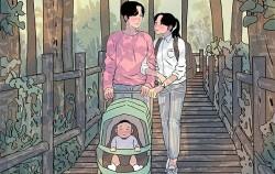 유모차로 산을 오르다