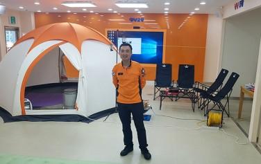 캠핑장 안전교육을 담당한 광나무안전체험관 이선필 주무관