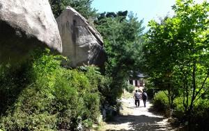 이름처럼 바위와 절이 많은 불암산길