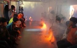 광나루안전체험관에서는 국내 최초로 지하철 화재를 체험해 볼 수 있다