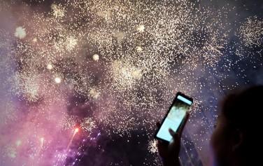 서울거리예술축제 서울광장 현장을 수놓은 아름다운 불꽃