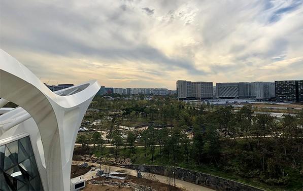 서울식물원 온실 전망대에서 바라본 마곡 풍경