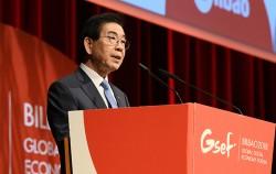 스페인 빌바오에서 열리고 있는 국제사회적경제협의체'(GSEF) 총회에 의장으로 자격으로 참석 중인 박원순 시장