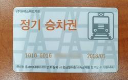 30일 이내 66회까지 사용 가능한 지하철 정기 승차권